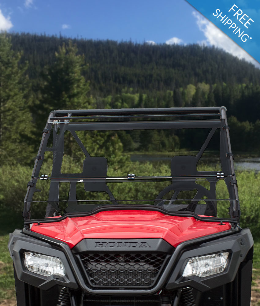 Honda Pioneer 500 Windshield - Full Folding