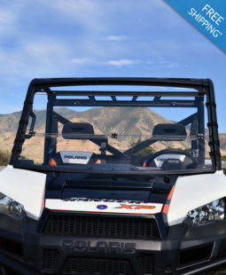 Polaris Full Size Ranger Windshields - Full Folding Polycarbonate