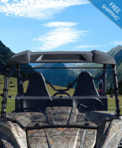 Yamaha Wolverine Windshield - Full Folding Polycarbonate