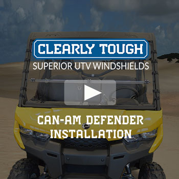 Clearly Tough's Can-Am Defender Windshield Installation